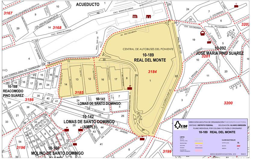 Colonia Real Del Monte 10 189 Estadistica De Los Comites